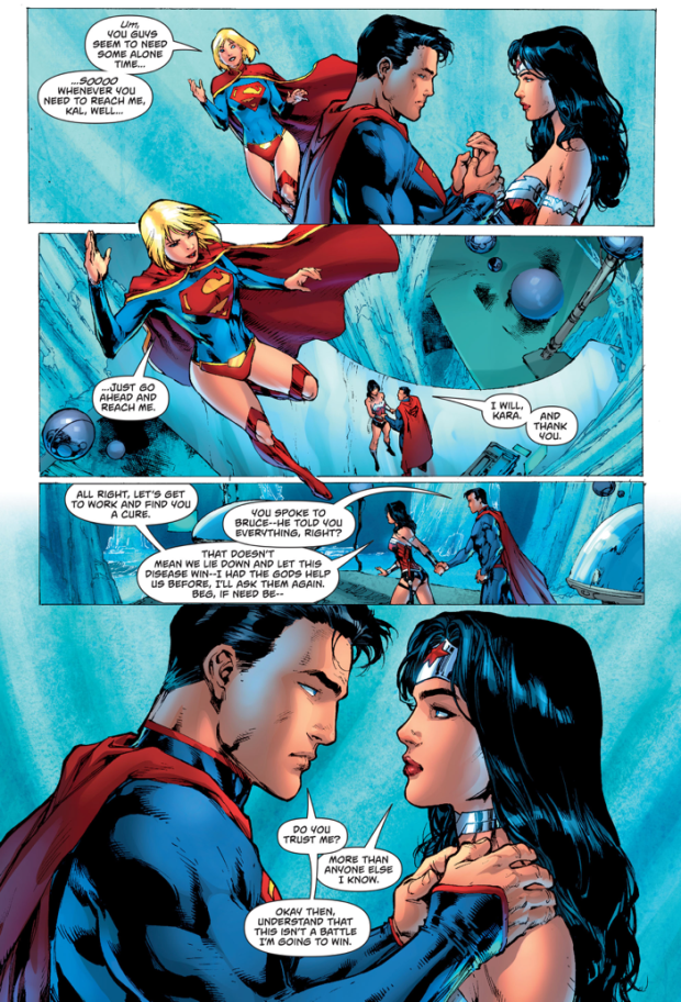 Superman Tells Wonder Woman He's Dying