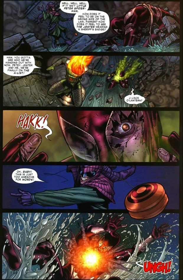 the jester and jack o lantern ambushes spider-man 2