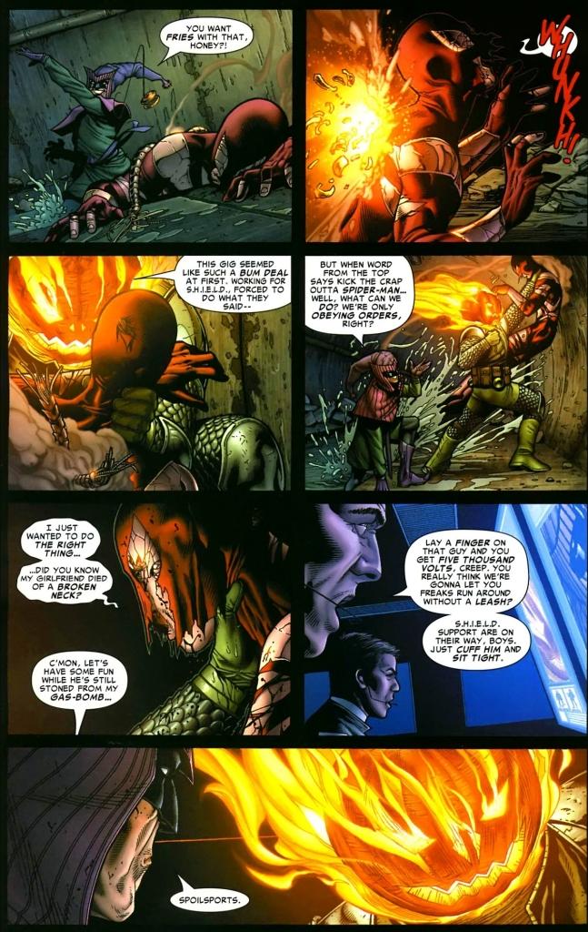 the jester and jack o lantern ambushes spider-man 3