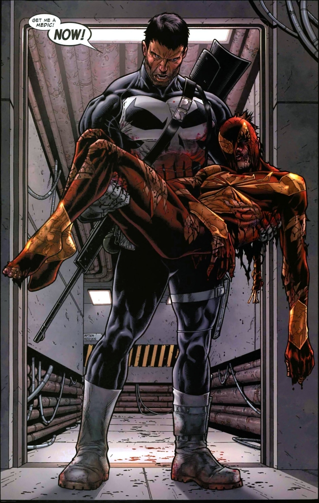 the punisher chooses captain america's side (civil war)