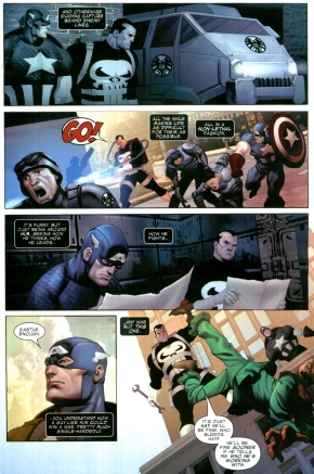 the punisher's thoughts on captain america