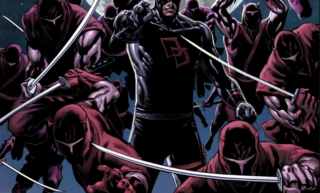 Bullseye VS Daredevil's Hand Ninjas