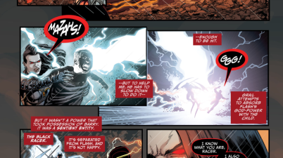 Grail Separates The Black Racer From The Flash