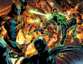 Hal Jordan And Guy Gardner Finds The Lost Lanterns