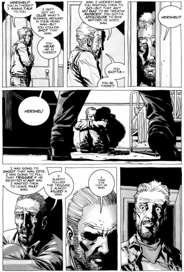 Hershel Greene Evicts Rick's Group From His Farm (The Walking Dead)