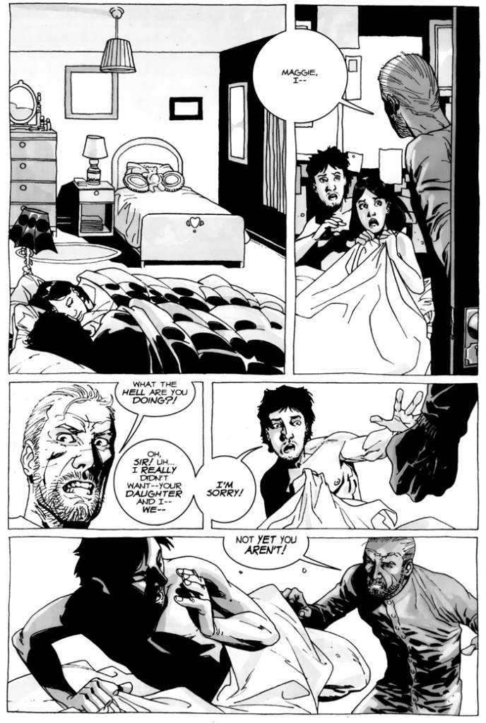 Hershel Greene Finds Out About Glenn And Maggie (The Walking Dead)