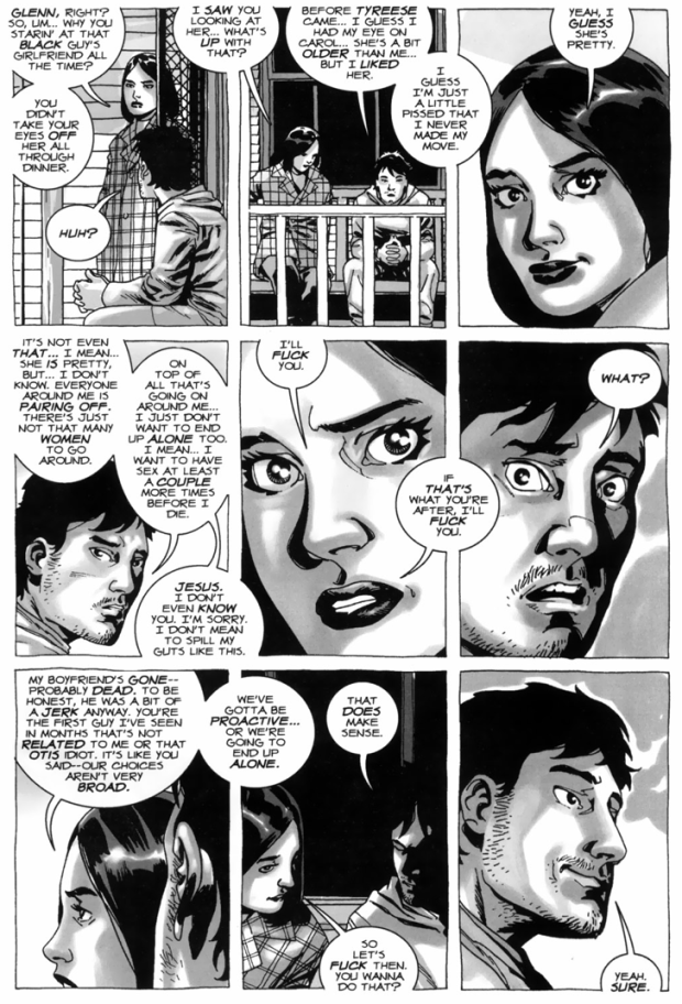 Maggie Greene Offers To Have Sex With Glenn Rhee (The Walking Dead)