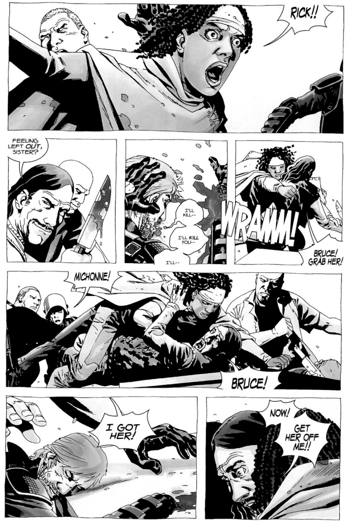 michonne bite the governor's ear off