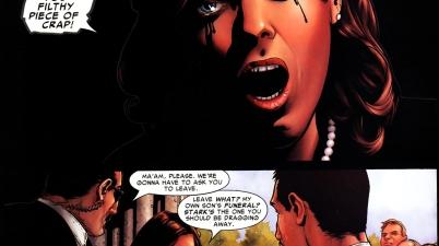Miriam Sharpe blames tony stark for her son's death