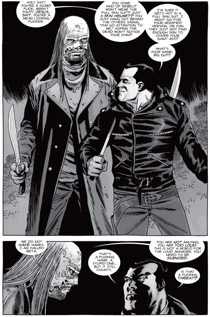 Negan Meets Beta Of The Whisperers