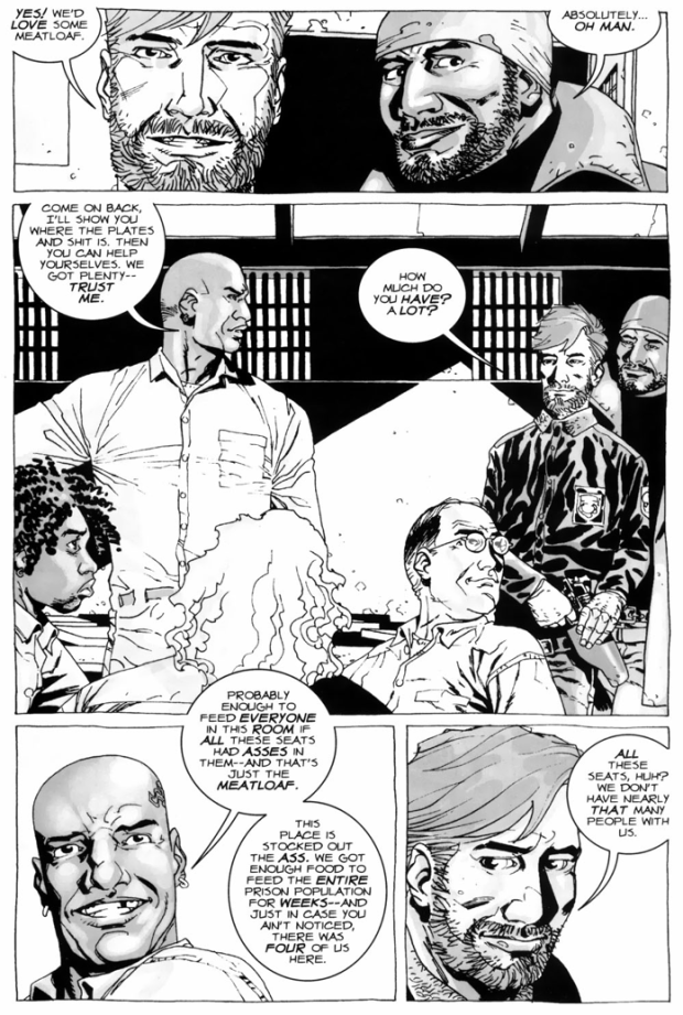 Rick Grimes's Group Meets Dexter, Axel, Thomas And Andrew (The Walking Dead)