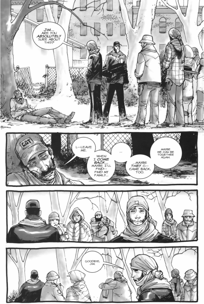 The Group Leaves Jim To Turn (The Walking Dead)