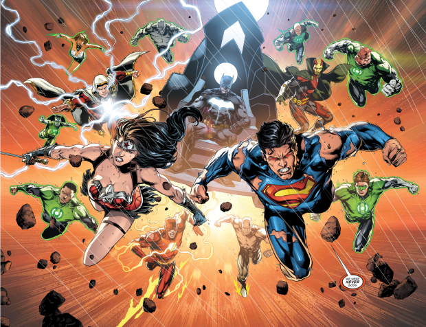 The Justice League And Green Lantern Corps VS Grail (Darkseid War)
