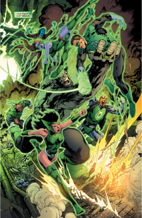 The Lost Lanterns Attack Green Lantern Hal Jordan