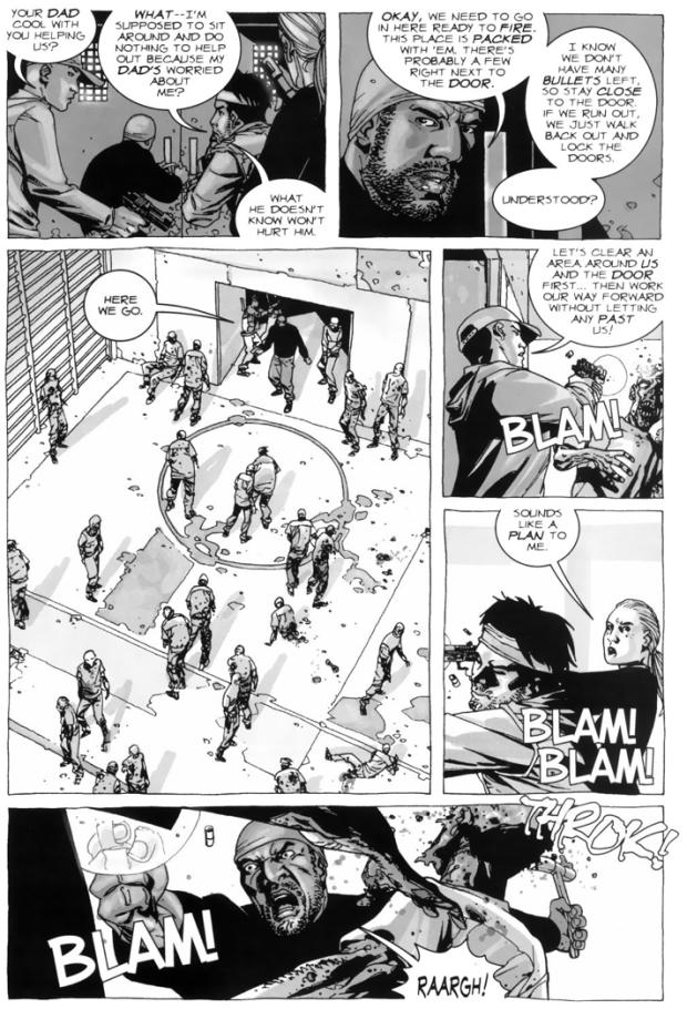 Tyreese, Andrea, Glenn Rhee And Billy Greene VS Walkers (The Walking Dead)