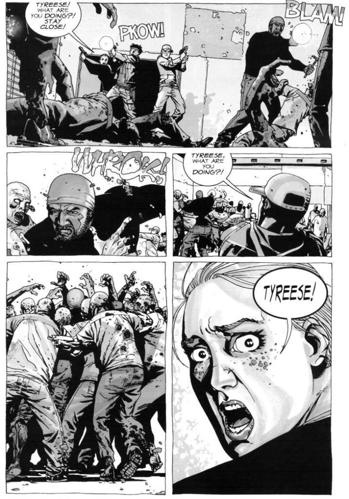 Tyreese, Andrea, Glenn Rhee And Billy Greene VS Walkers (The Walking Dead)