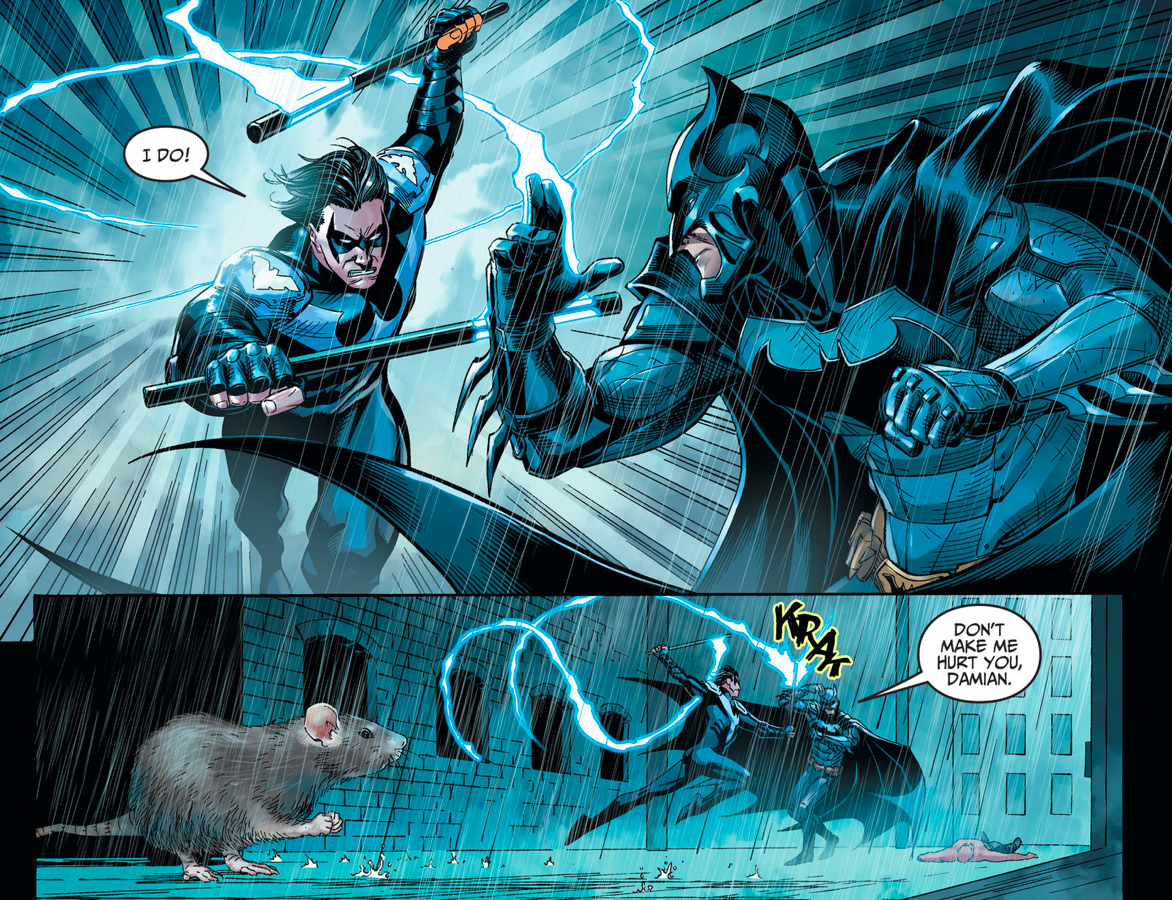 Batman VS Nightwing Damian Wayne (Injustice Gods Among Us