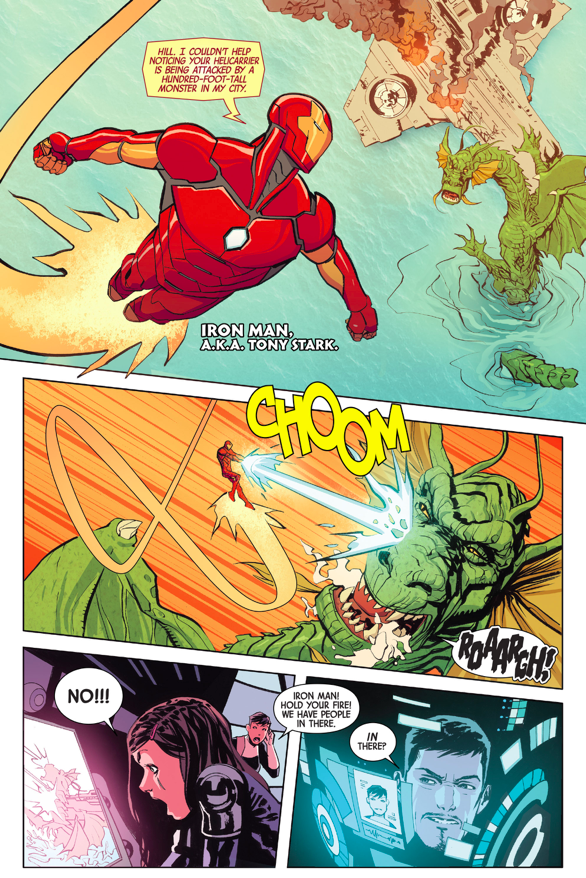 Iron Man And Captain Marvel VS Fin Fang Foom