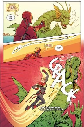 Iron Man And Captain Marvel VS Fin Fang Foom