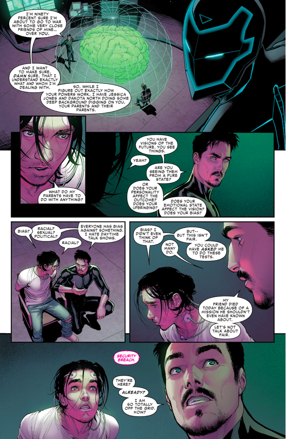 Iron Man Studies Ulysses's Powers (Civil War II)