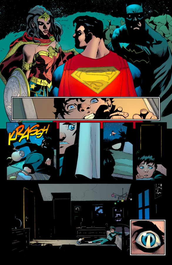 Jonathan Kent Eavesdrop On Superman, Batman And Wonder Woman
