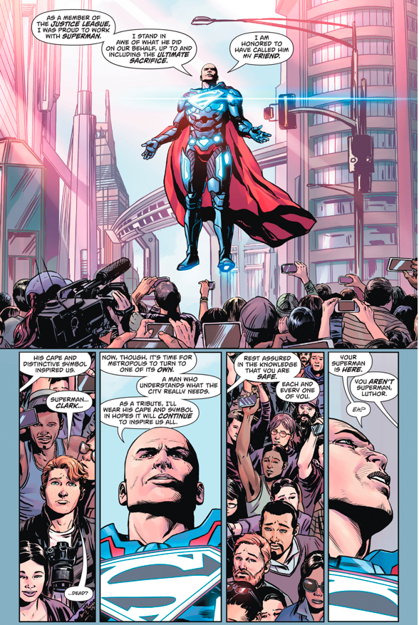 Pre Flashpoint Superman Confronts Lex Luthor Comicnewbies