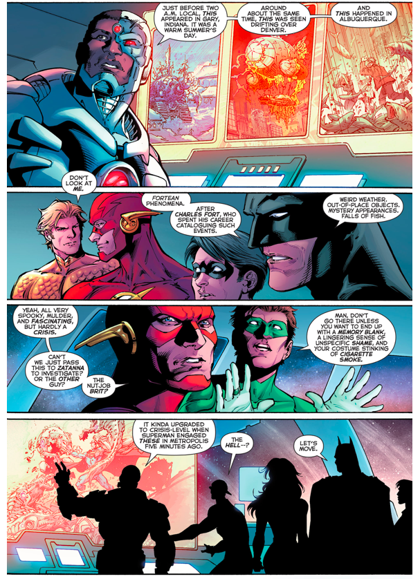 Robin (Dick Grayson) Meets The Justice League (New 52)