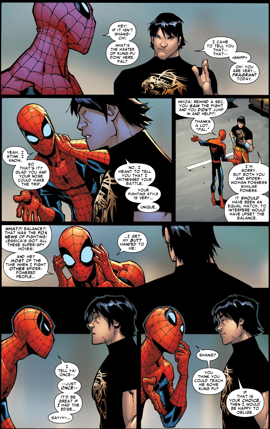 Spider Man Learns Kung Fu From Shang Chi Comicnewbies