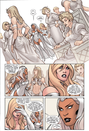 Storm Gives Relationship Advice To Emma Frost