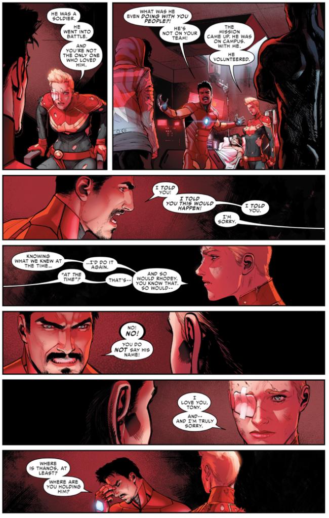 Thanos Kills War Machine (Civil War II)