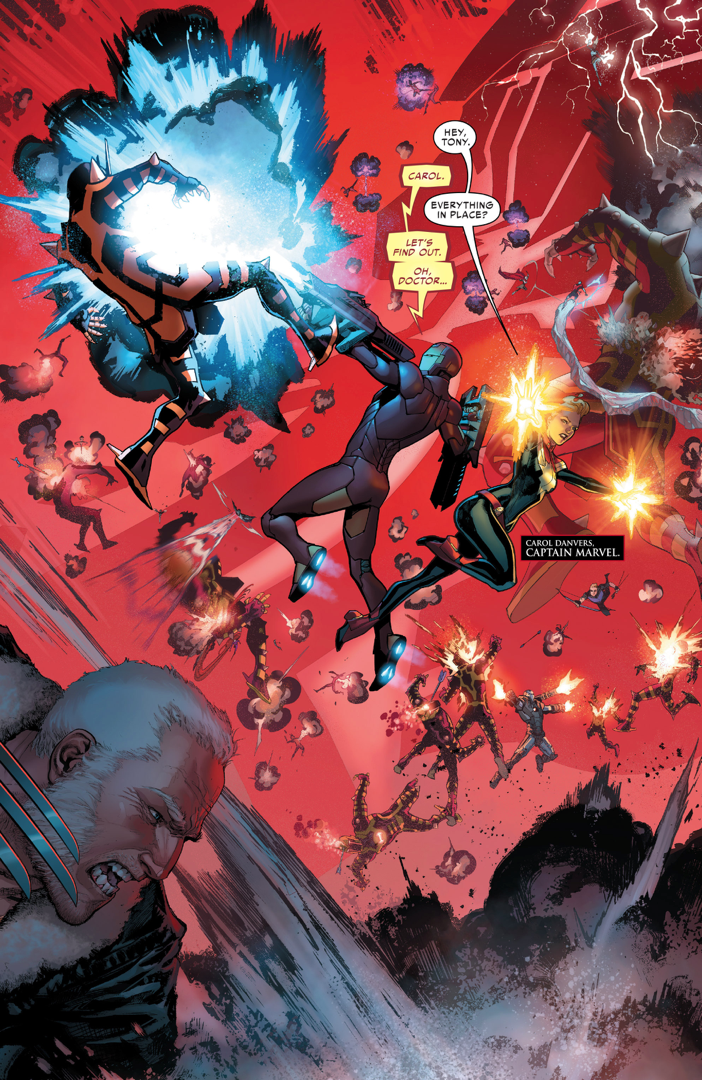 The Avengers: The Avengers, X-Men, Ultimates And Inhumans VS A Celestial