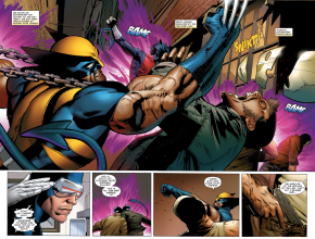 Wolverine And Nightcrawler VS Hellfire Cult Members