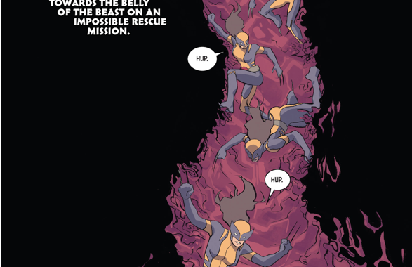Wolverine (Laura Kinney) Rescues Old Man Logan From Fin Fang Foom
