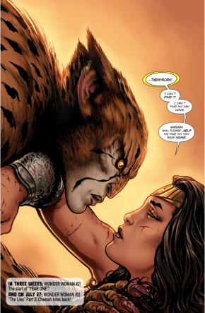 Wonder Woman Asks The Cheetah For Help
