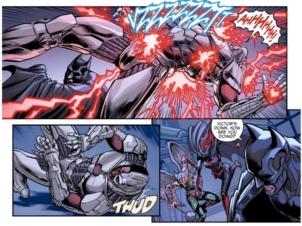 Batman And Batwoman VS Cyborg And Hawkgirl (Injustice Gods Among Us)