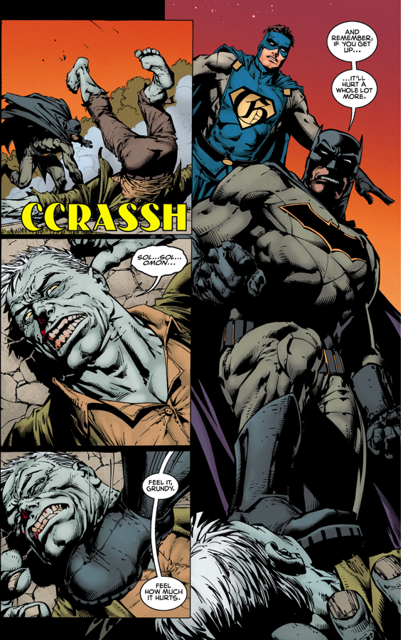 Batman, Gotham And Gotham Girl VS Solomon Grundy