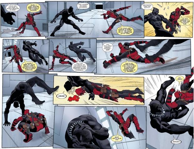 deadpool vs black panther (civil war II) 1