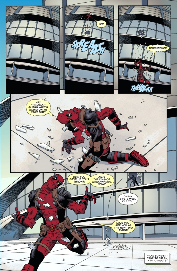 deadpool vs black panther (civil war II)