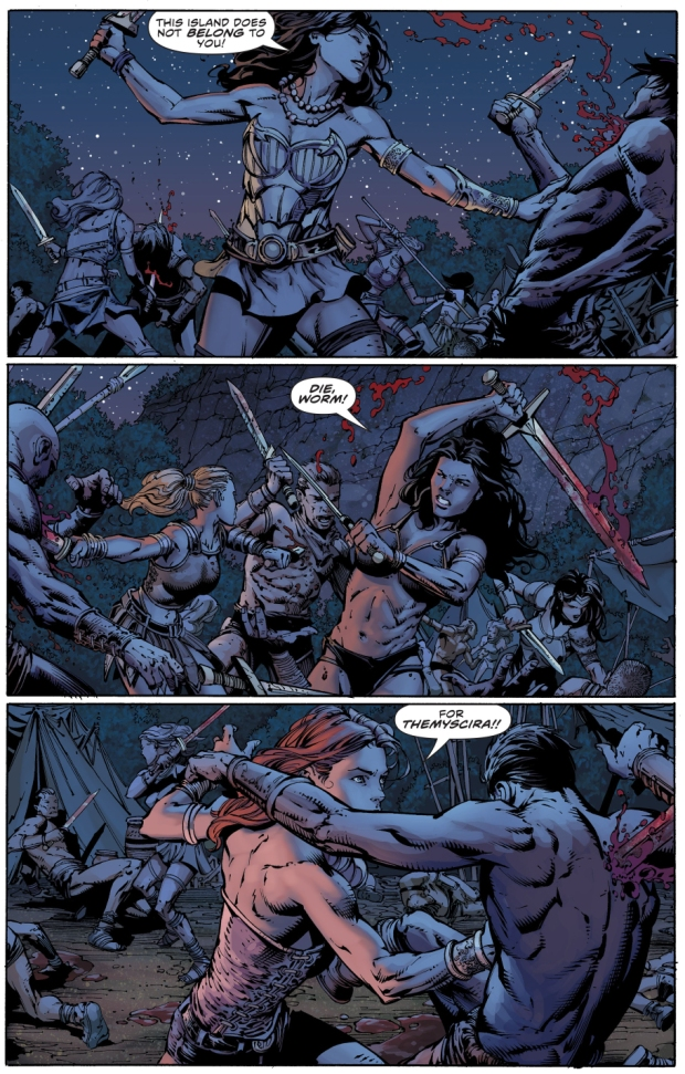 donna troy massacres the Sons of Themyscira