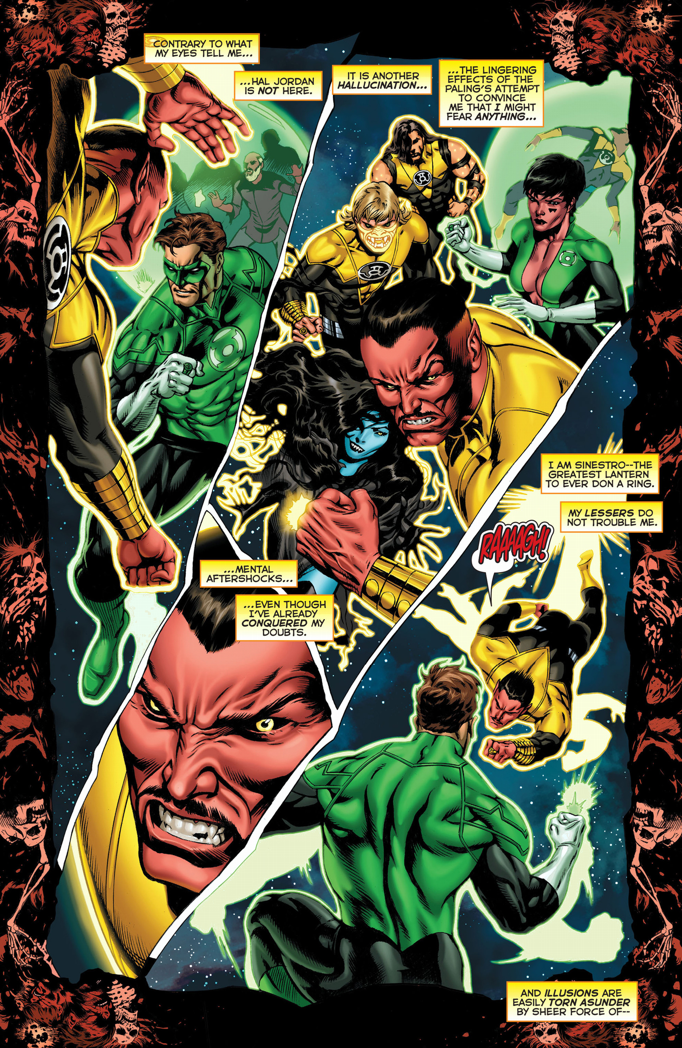 Pierwsze spojrzenie zegarek 100% jakości Green Lantern Hal Jordan VS Sinestro's Elite Guard ...