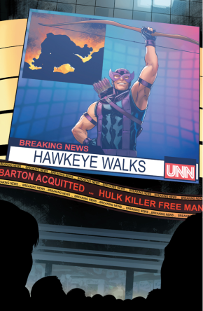 Hawkeye Is Acquitted (Civil War II)