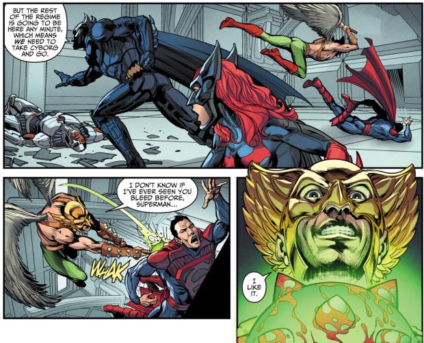 Hawkman VS Superman (Injustice Gods Among Us)