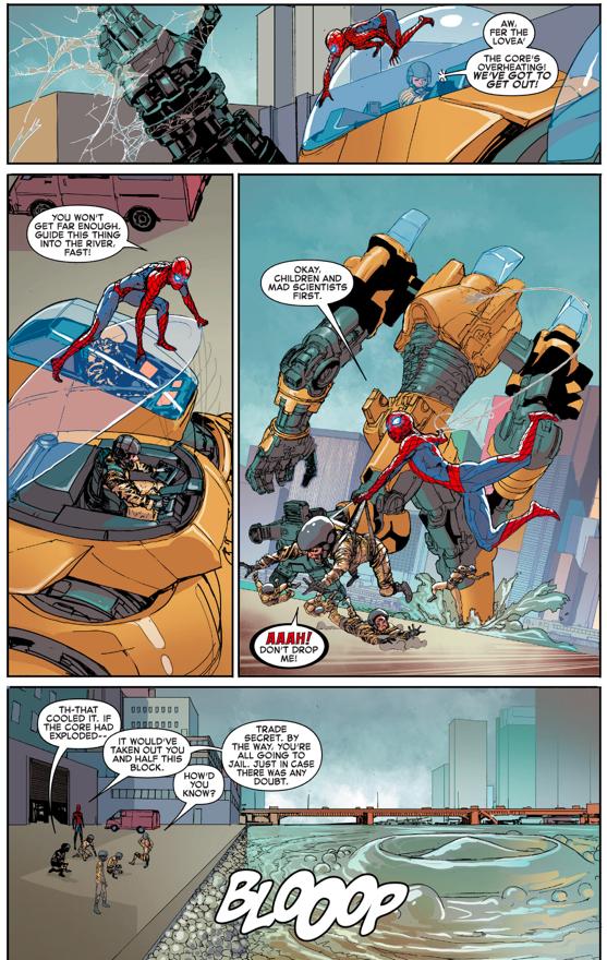Spider-Man VS The Quintronic Man (Civil War II)