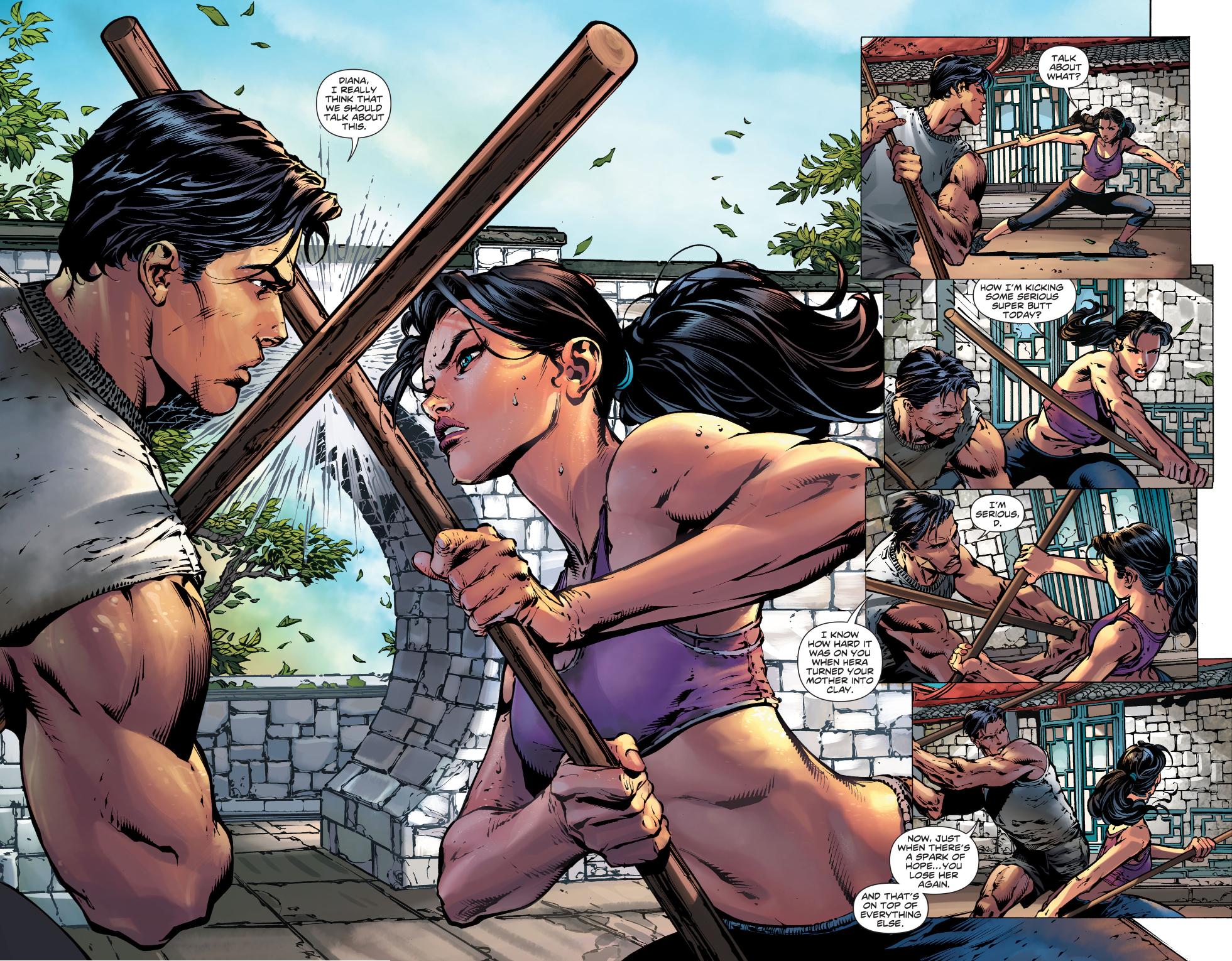 Superman And Wonder Woman Sparring  Comicnewbies-7020