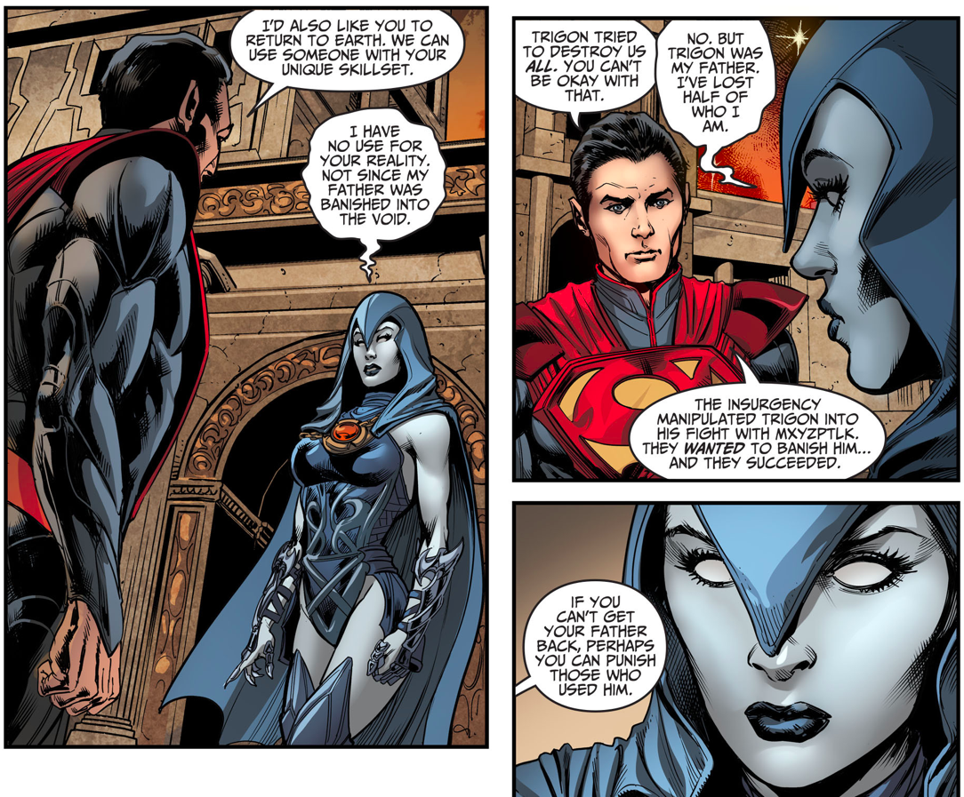 superman recruits raven injustice gods among us