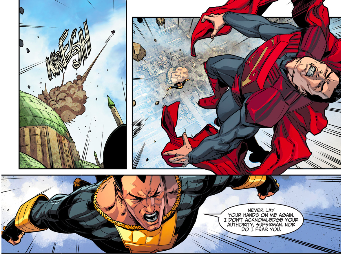 Superman VS Black Adam Injustice Gods Among Us