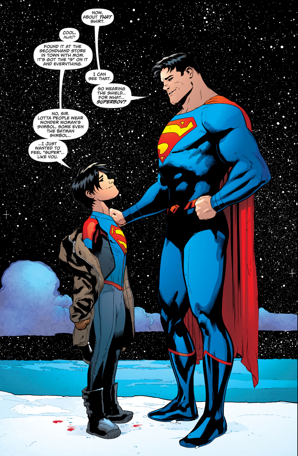 why superman s son wants to wear the s logo comicnewbies