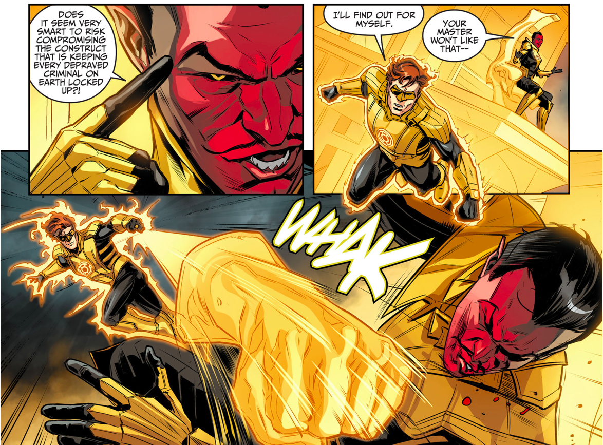 Yellow Lantern (Hal Jordan) Punches Sinestro | Comicnewbies