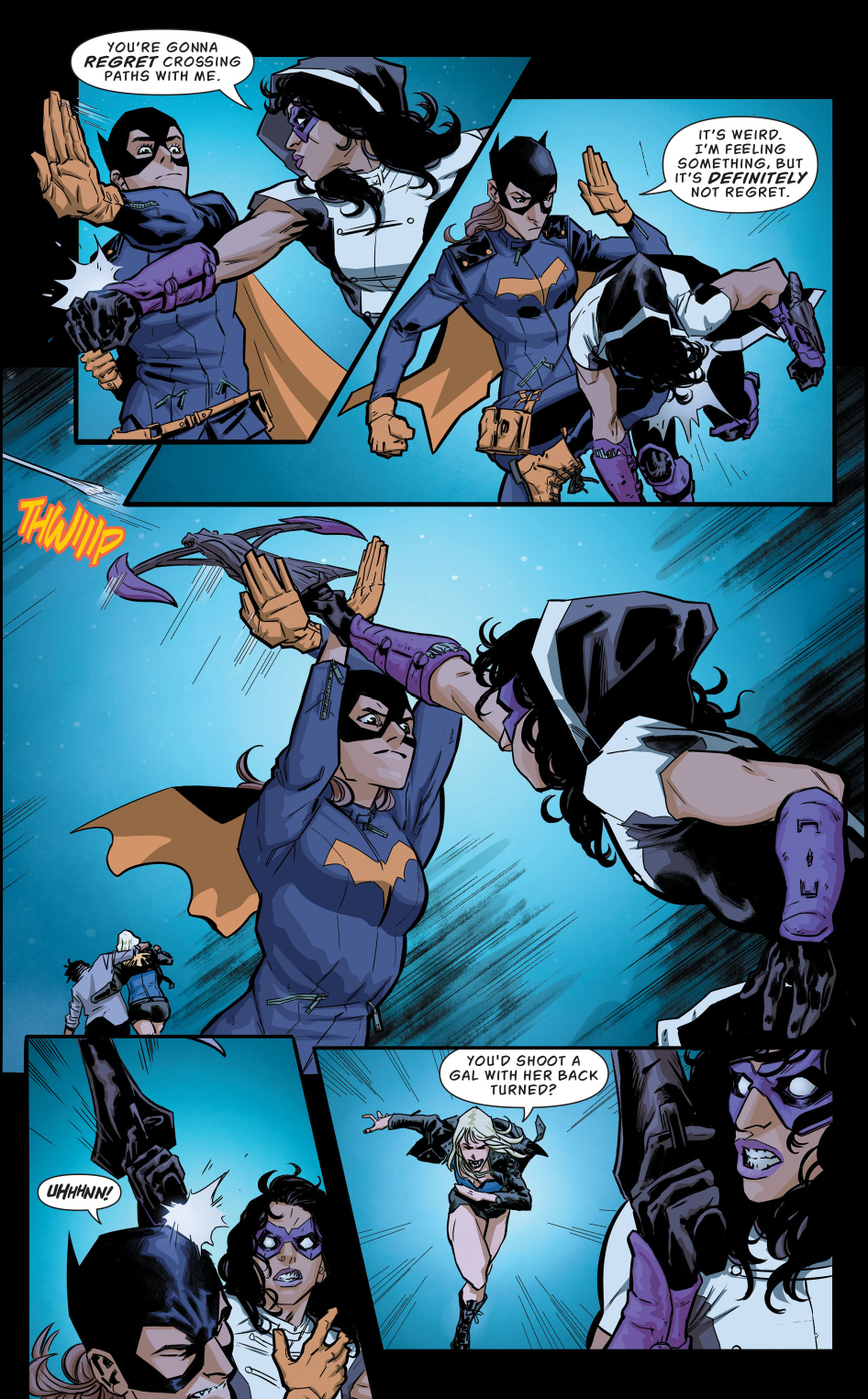 Batgirl and black canary vs the huntress rebirth comicnewbies