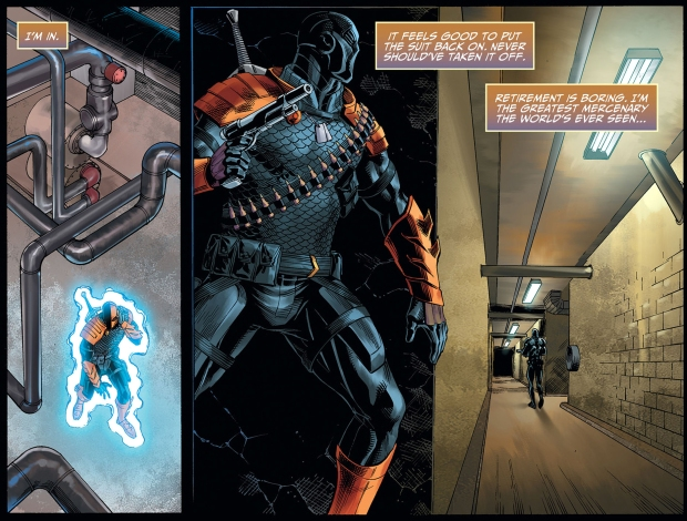 batman recruits deathstroke (injustice gods among us)